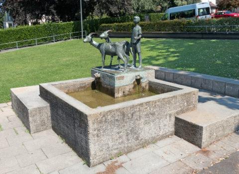Brunnen Dorfhaldeschulhaus - 1902/1974 - Eigentum der WKG