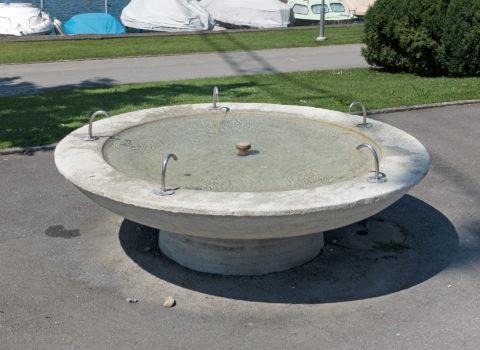 Brunnen Schulhaus Seematt 1 - 1958 - Eigentum der WKG
