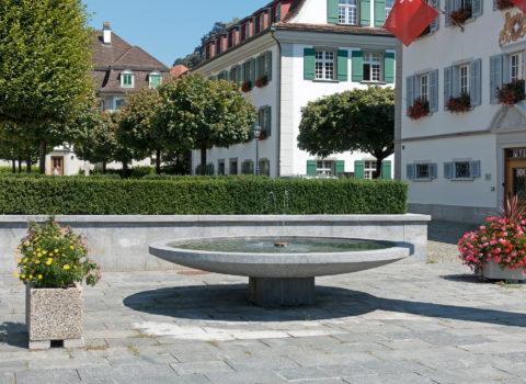 Tellbrunnen beim Rathaus - 1959 - Eigentum der WKG